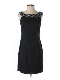 DressBarn Solid Black Cocktail Dress Size 4 (Petite) - 95% ...