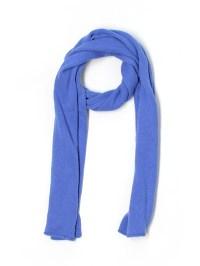 Garnet Hill 100% Cashmere Solid Blue Cashmere Scarf One