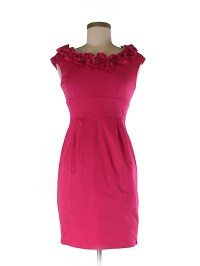 DressBarn Solid Pink Casual Dress Size 4 (Petite) - 52% ...