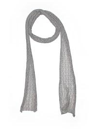 Garnet Hill Solid Gray Silk Scarf One Size
