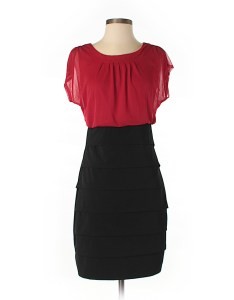 Pin it en focus studio women casual dress size also color block red off thredup rh