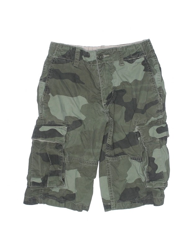 effca29eae Gap Kids 100 Cotton Camo Dark Green Cargo Shorts Size 10