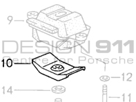 Porsche Gearbox Support Bearing Bracket Stop 96437518301