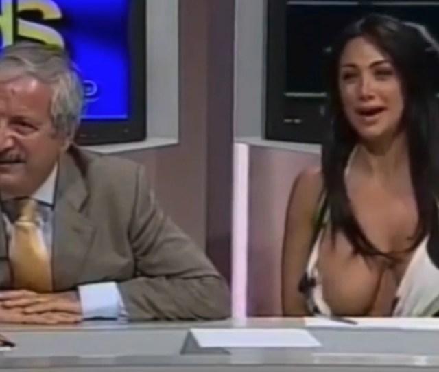 Marika Fruscio Suffers Nip Slip Wardrobe Malfunction On Live Tv In Italy The Sun