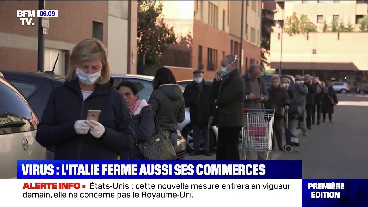 coronavirus en italie tous les commerces doivent fermes sauf les magasins d alimentation et les pharmacies