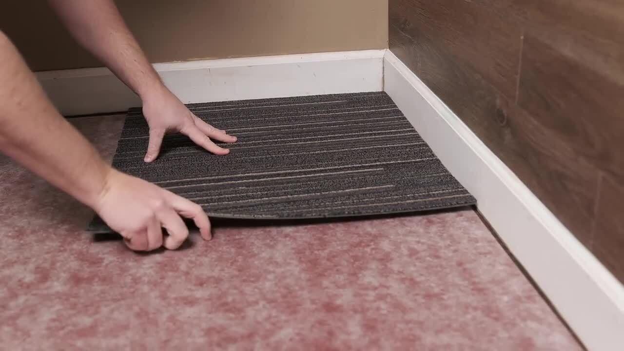 versatile assorted commercial pattern 24 in x 24 in carpet tile 10 tiles case