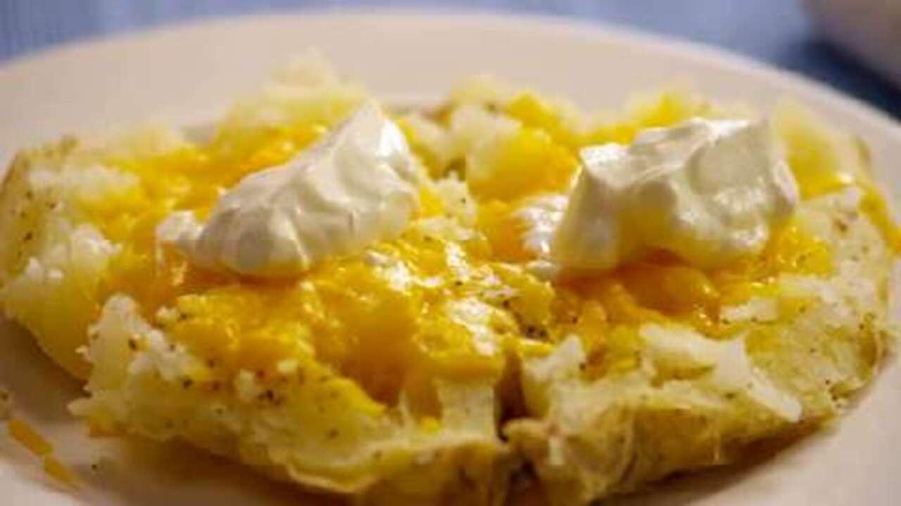 microwave baked potato