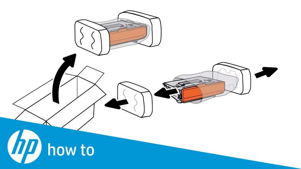 medium resolution of removing and replacing the toner cartridge hp laserjet enterprise mfp m631 m632 m633 series
