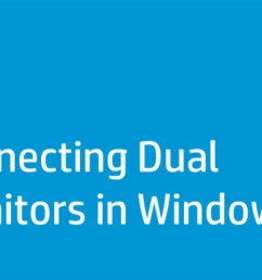 this video shows how to connect dual monitors to one computer in windows 7 [ 1280 x 720 Pixel ]