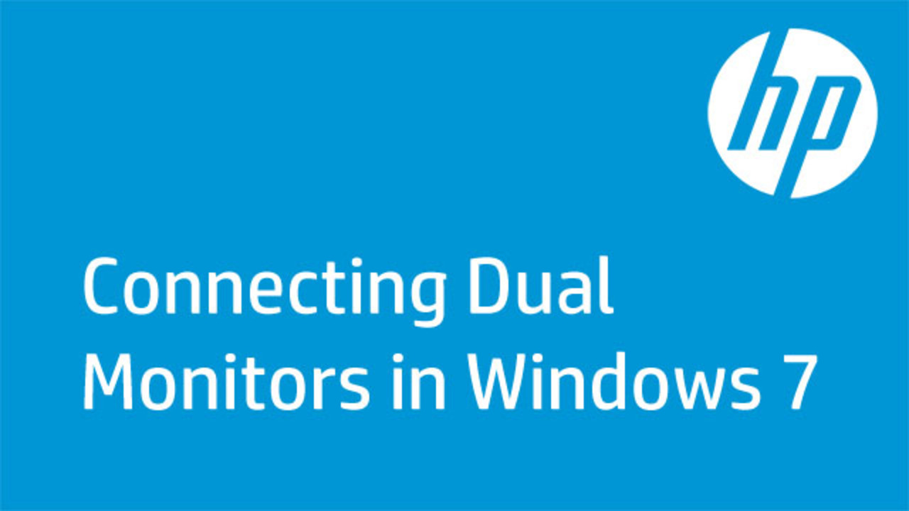 hight resolution of this video shows how to connect dual monitors to one computer in windows 7