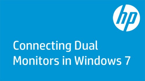 small resolution of this video shows how to connect dual monitors to one computer in windows 7