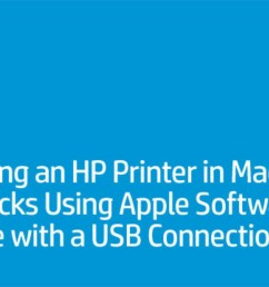 installing an hp printer in mac os x mavericks using apple software update with a usb connection in mac os x 10 9 also known as mavericks hp is providing  [ 1280 x 720 Pixel ]