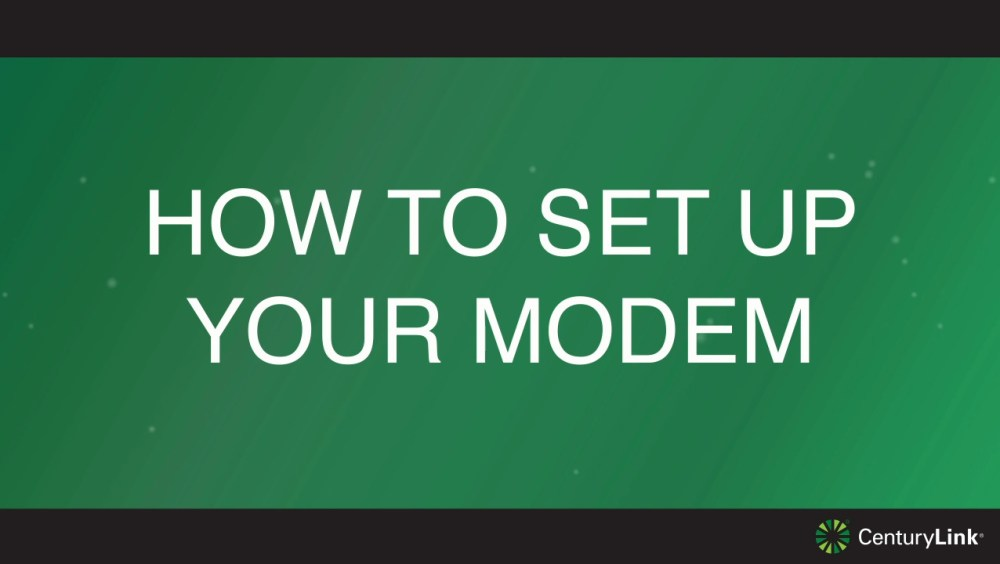 medium resolution of setup your internet and activate service centurylink help