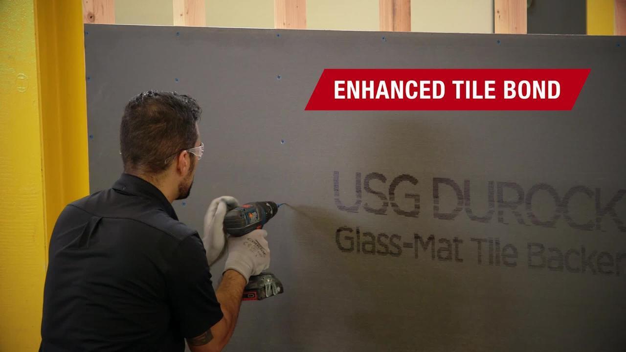 ft x 8 ft glass mat tile backerboard