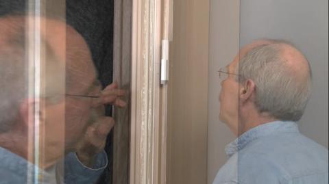 white double bolt sliding door lock