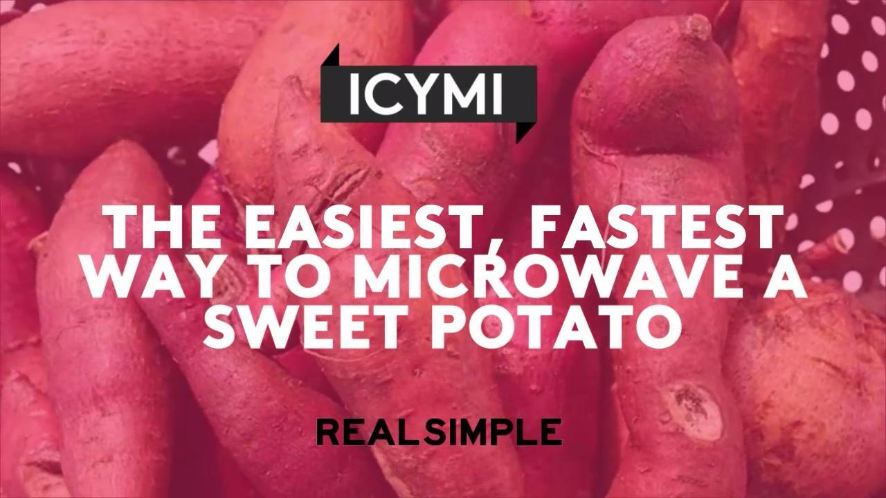 the easiest fastest way to microwave a sweet potato