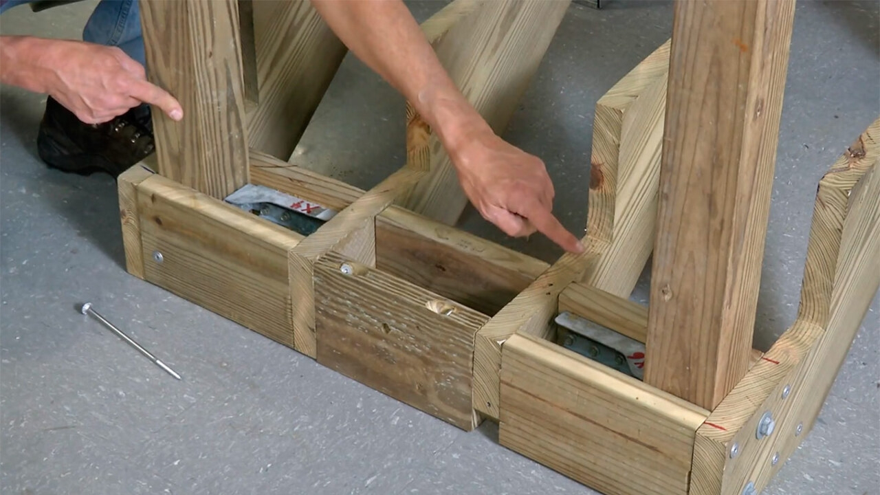 Support And Connect Stair Stringers For Strong Stairs Fine | Building Deck Steps With Stringers | Landing | Stair Treads | Deck Railings | Outdoor | Pressure Treated