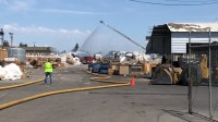 Buildings, vehicles protected at Modesto recycling blaze ...