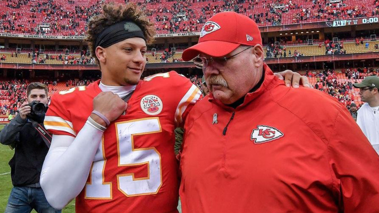 Image result for andy reid and patrick mahomes