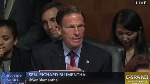 Image result for DICK BLUMENTHAL LATIN QUOTE KAVANAUGH