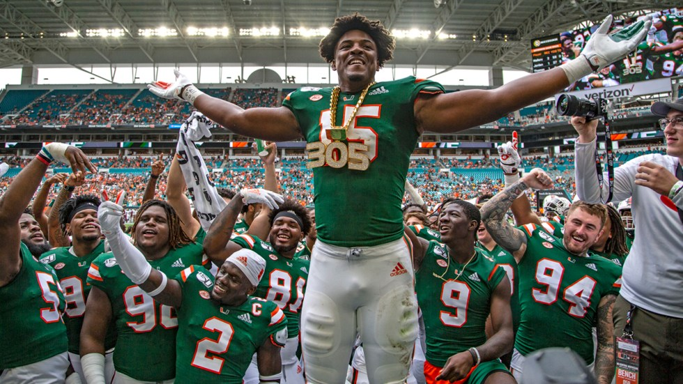 Gregory Rousseau making run at UM record book with sack total ...