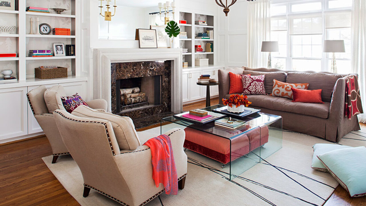 how to design living room with fireplace and tv sheer curtains for india furniture arrangement ideas vs