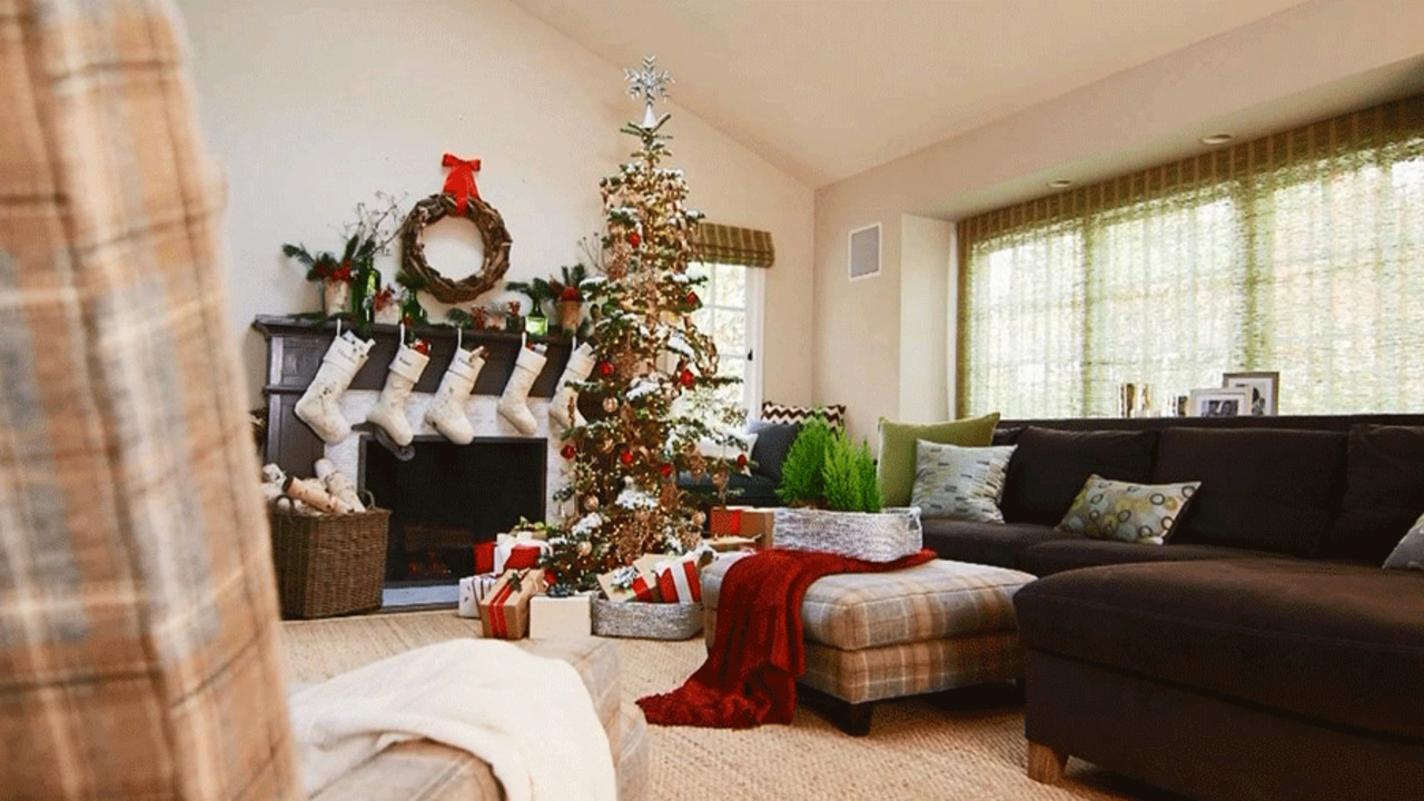 pictures of living room decorated for christmas small with open kitchen ideas pretty rooms get inspired tour