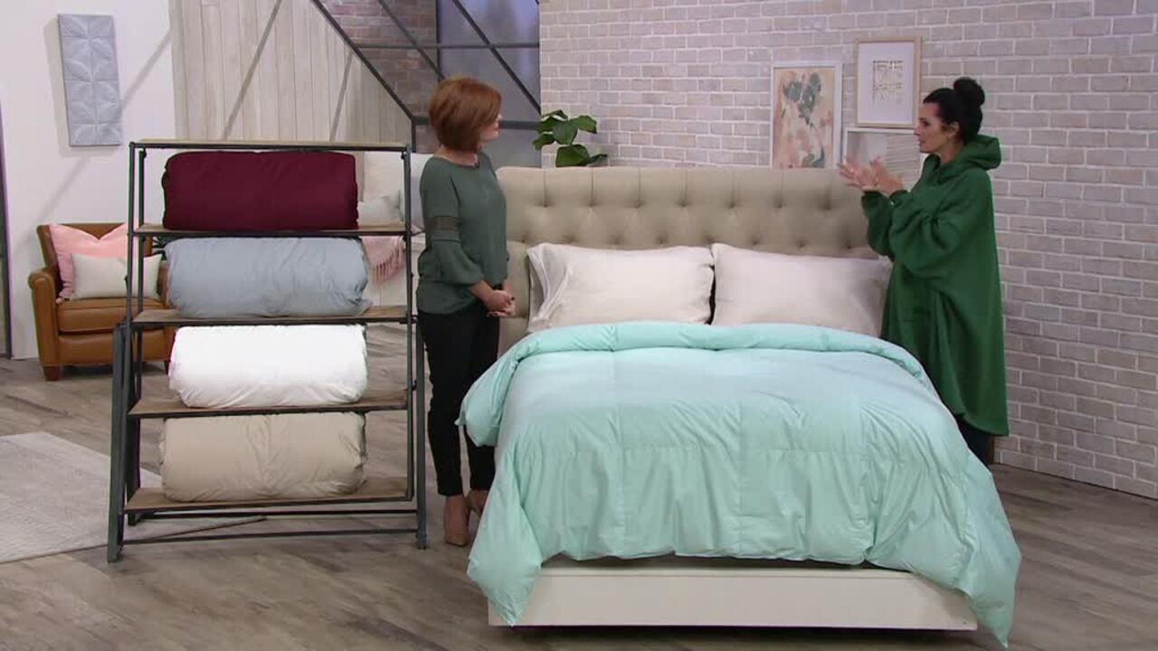 northern nights 400tc 100 cotton 600fp down comforter queen qvc com