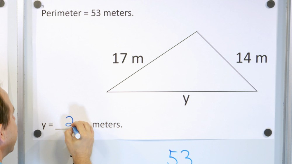 medium resolution of 3rd Grade Math Course - Unit 7 - Lesson 27 - Perimeter with a Missing Side  - Part 1