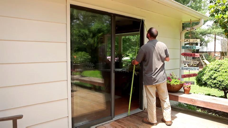 72 in x 80 in 200 series perma shield sliding patio door white right hand frame kit
