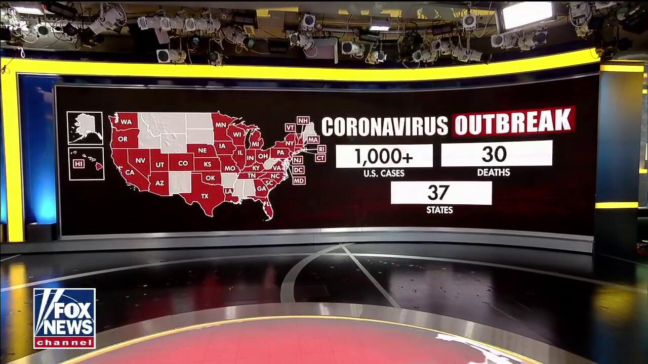 Over 1,000 people in 37 states infected with coronavirus