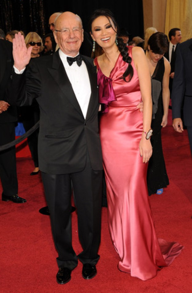 Rupert Murdoch and Wendi Deng arrive at the 83rd Academy Awards in Hollywood