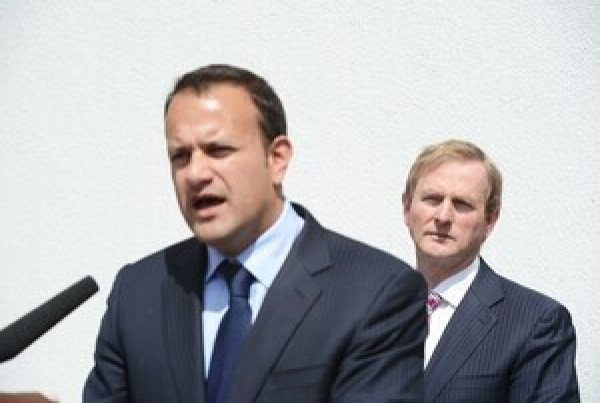 File Photo: Reports have come out of the Fine Gael PP meeting last night, prior to the No Confidence debate in the Dail, that the two 'Big Beast's' in the race to succeed Enda Kenny as leader of Fine Gael, Leo Varadkar and Simon Coveney, joined forces to propose that FG prepare for a General Election. Thus forcing the Taoiseachs hand in setting a date for the transfer of power to a new leader.End. 29/05/2013. L TO R. Minister for Transport, Tourism and Sport, Leo Varadkar with Taoiseach and Fine Gael leader Enda Kenny officially open Irish Sport HQ On behalf of the National Sports Campus. Photo: Sasko Lazarov/RollingNews.ie