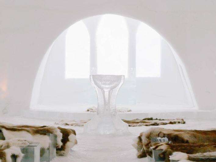 Nói lời thề nguyện trong Nhà thờ băng Jukkasjärvi