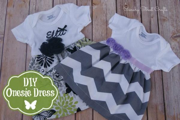 Diy Onesie Dress - Canary Street Crafts