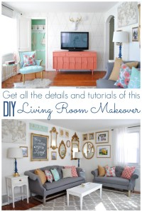 Coral and Mint Living Room Reveal - Classy Clutter