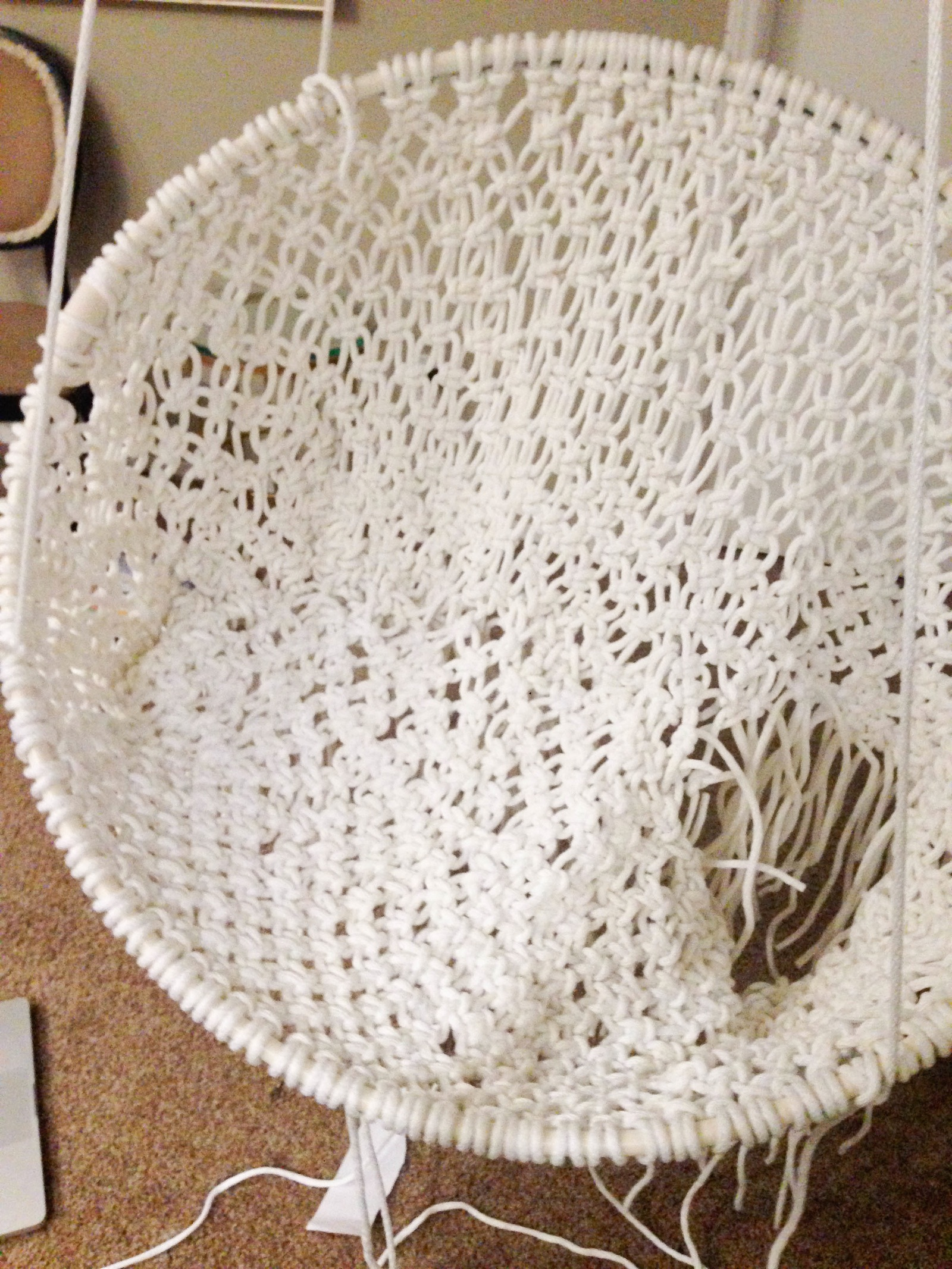 hanging chair urban outfitters bariatric shower diy macramé