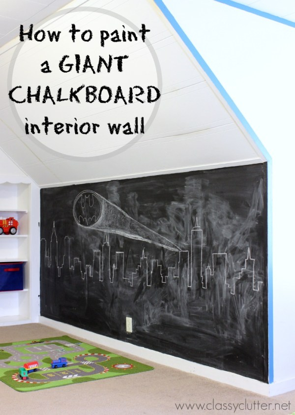 How to Paint Chalkboard Wall