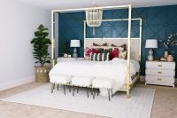 Master Bedroom Makeover with Awesome Accent Wall - Classy ...