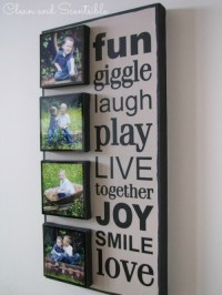 DIY Photo Canvas - Clean and Scentsible