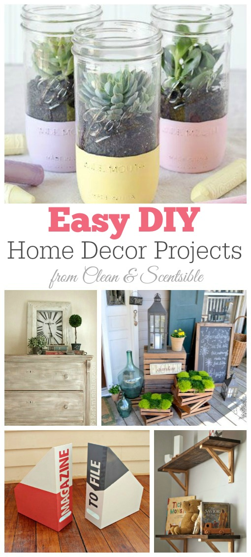 Friday Favorites DIY Home Decor Projects Clean And Scentsible
