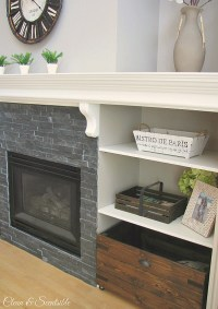 Updated Fireplace and Mantel - Clean and Scentsible