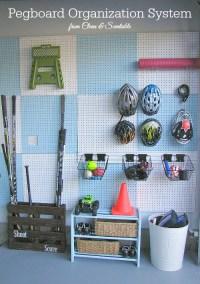 Garage Pegboard Organizer