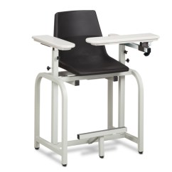 Blood Draw Chair Rounded Corner Standard Lab Series Extra Tall Clinton Industries 66011 P