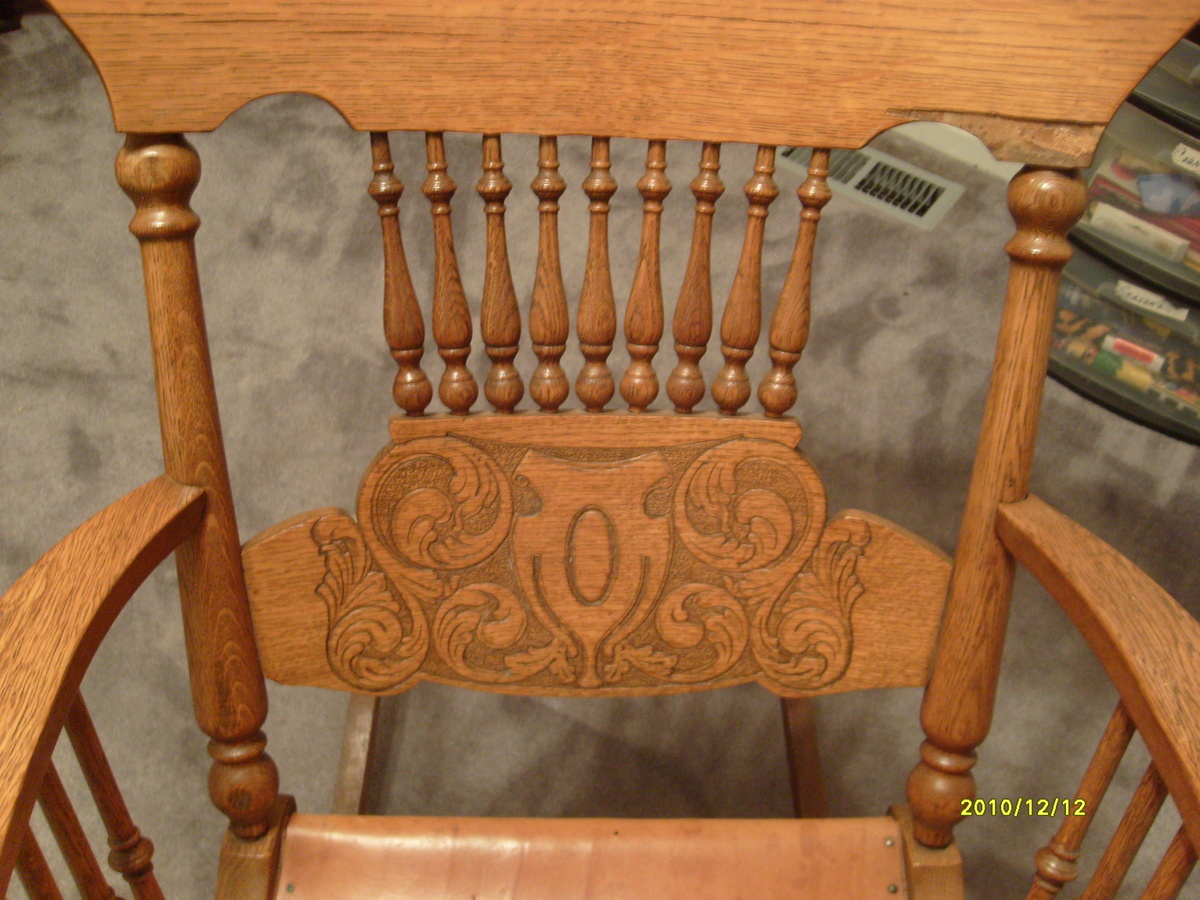 Rockin Chair My 9 Oak Rockin Chair Collectors Weekly