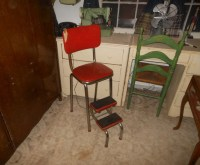 Vintage Kitchen Stool With Folding Steps | Collectors Weekly