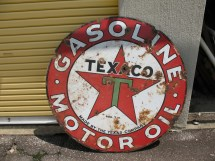 Vintage Texaco Lollipop Sign Authentic Collectible - Year of