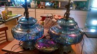 Large Vintage Carnival Glass Lamps | Collectors Weekly