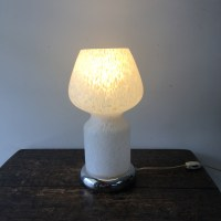 Mid Century Murano Glass and Chrome Table Lamp ...