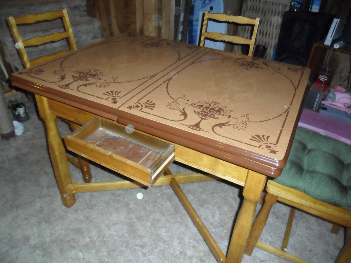 Vintage Metal Top Kitchen Table  Collectors Weekly